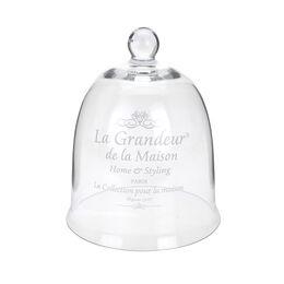 Capac de sticla, cu mesaj, diametru 17 cm